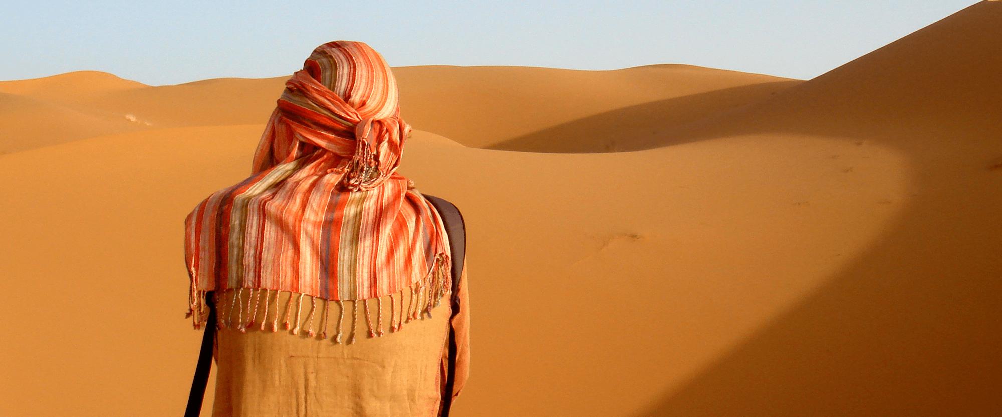 Arab woman in desert